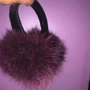 Real fox fur ear muffs